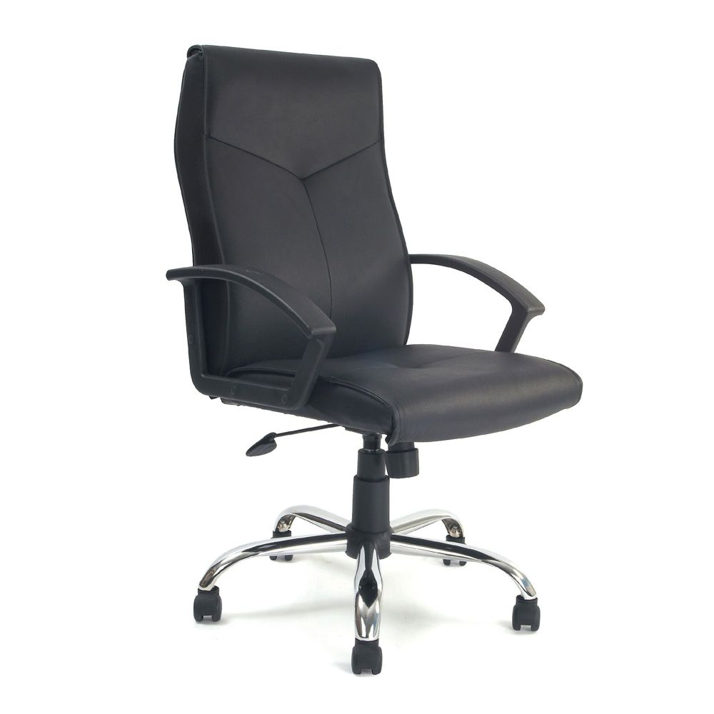 Weston High Back, Traditional Leather Faced, Executive Chair, Black. Eliza Tinsley